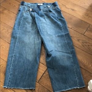 Zara Cross Button Jeans